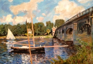 The Bridge at Argenteuil after Claude Monet