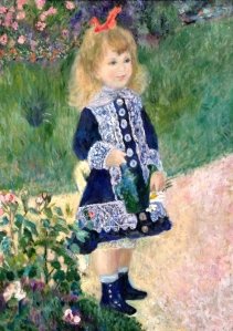 Girl with a Watering Can after Auguste Renoir