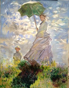 Woman with a Parasol – Madame Monet and Her Son after Claude Monet