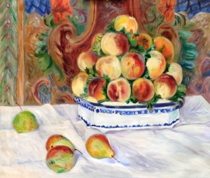 Still Life with Peaches after Renoir