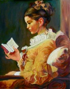Young Girl Reading after Fragonard