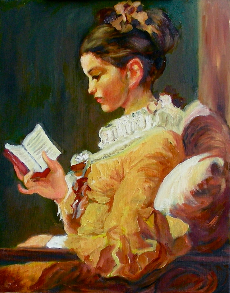 Young Girl Reading after Fragonard