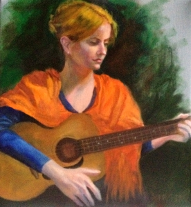 Girl with a Guitar, Sonia Gadra