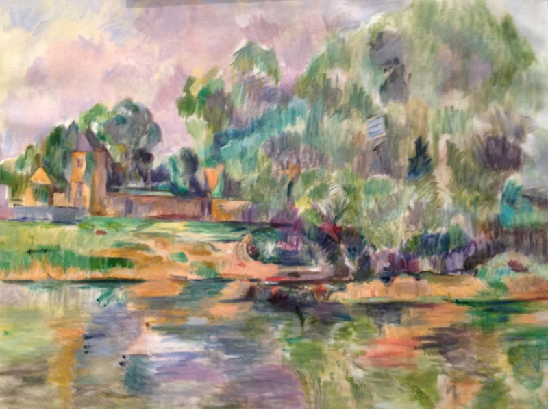 Riverbank after Paul Cezanne