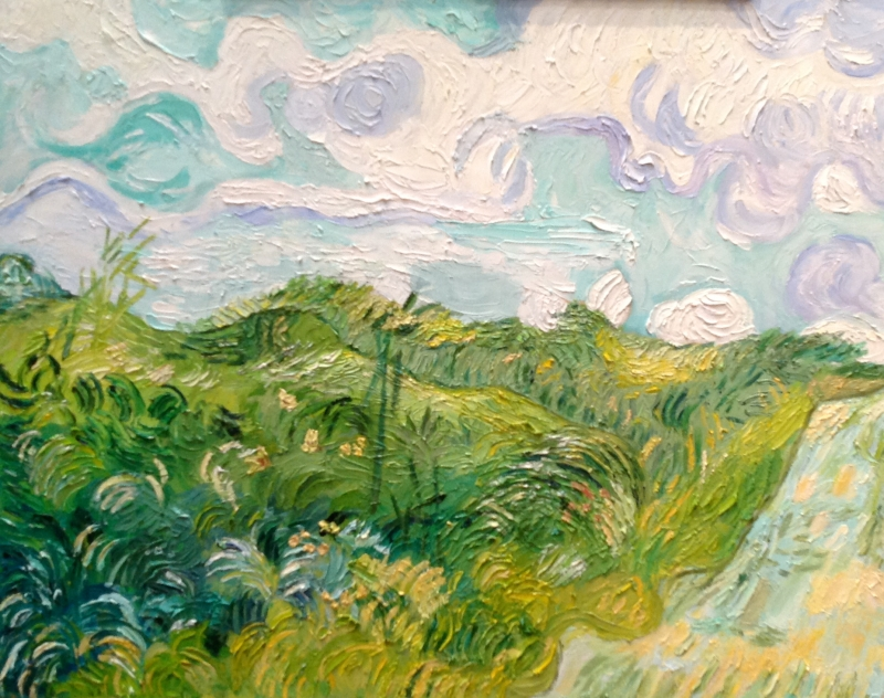 Green Wheat Fields, Auvers after Vincent van Gogh