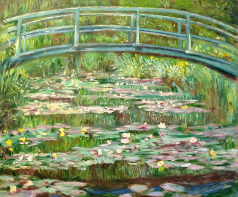 Japanese Footbridge after Claude Monet