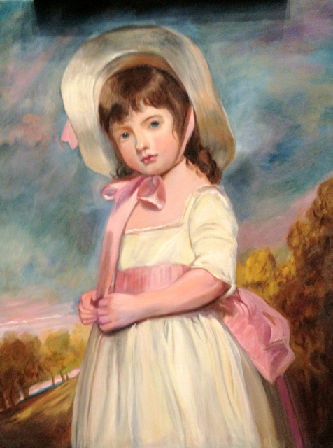 Miss Juliana Willoughby after George Romney