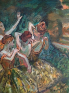 Four Dancers after Degas