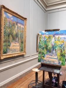 Artist Garden at Vetheuil - Original and Copy