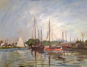 Bateaux de Plaisance, Argenteuil 1872 after Claude Monet